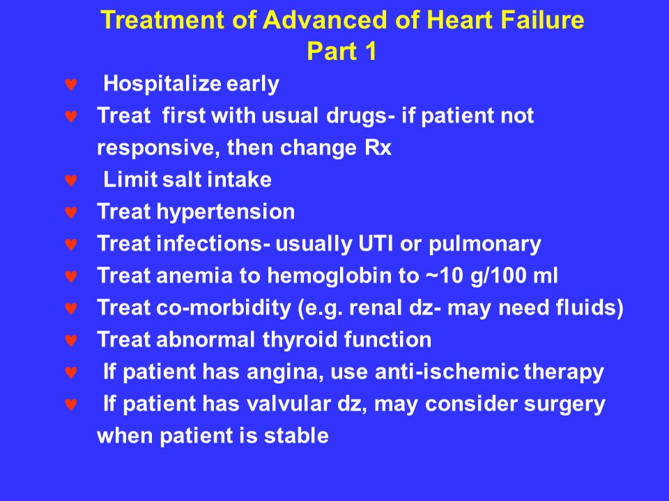 Treatment of Advanced of Heart Failure Part 1