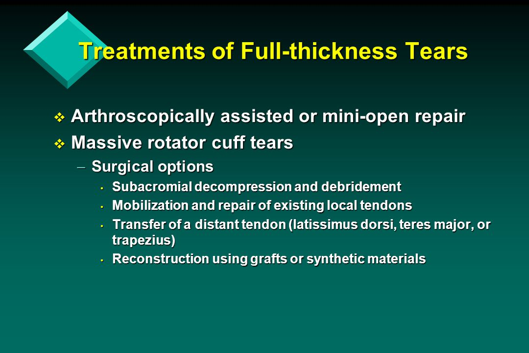 Treatments of Full-thickness Tears