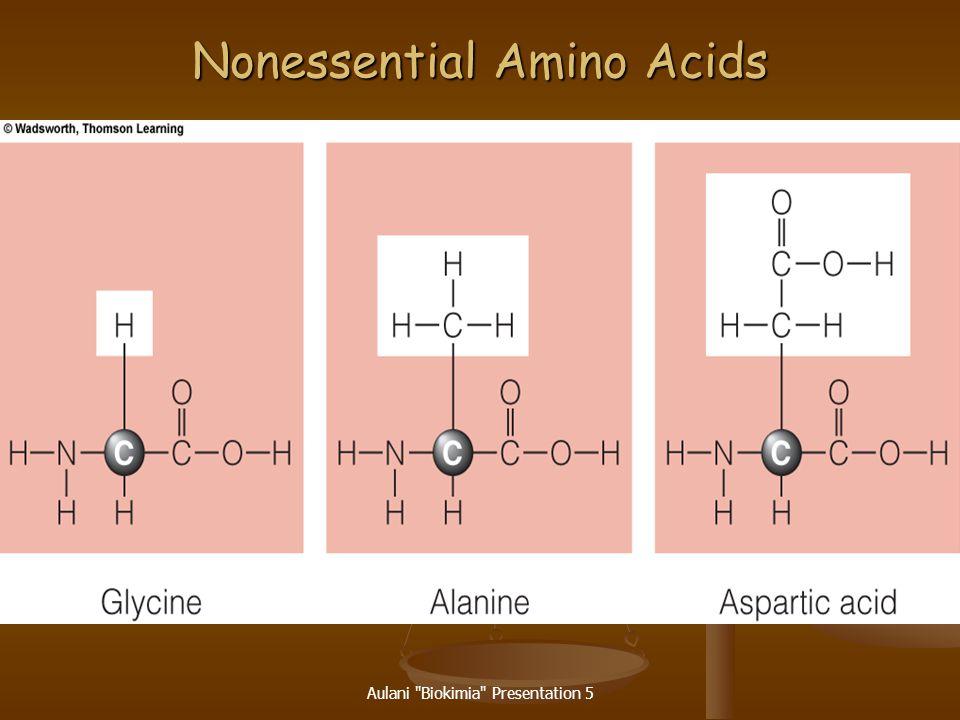 Nonessential Amino Acids