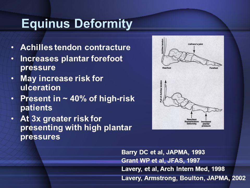 Equinus Deformity Achilles tendon contracture