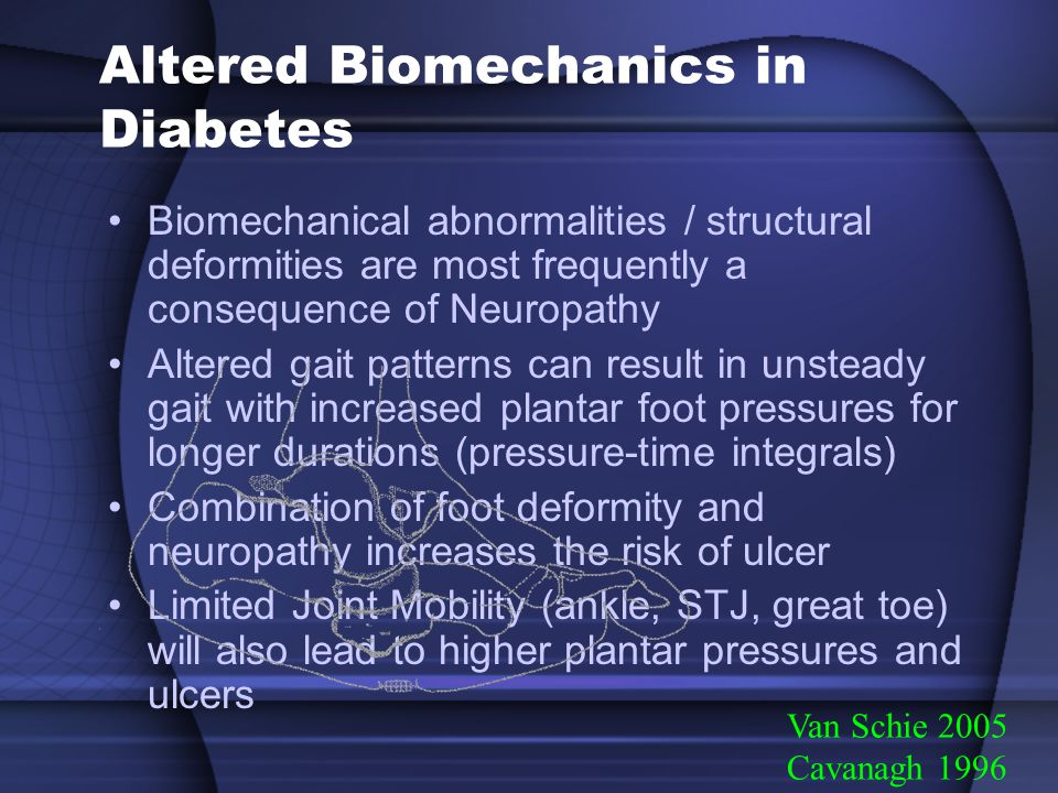 Altered Biomechanics in Diabetes