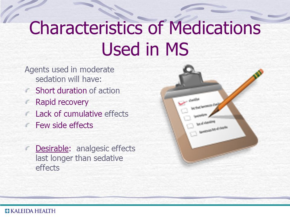 Characteristics of Medications Used in MS