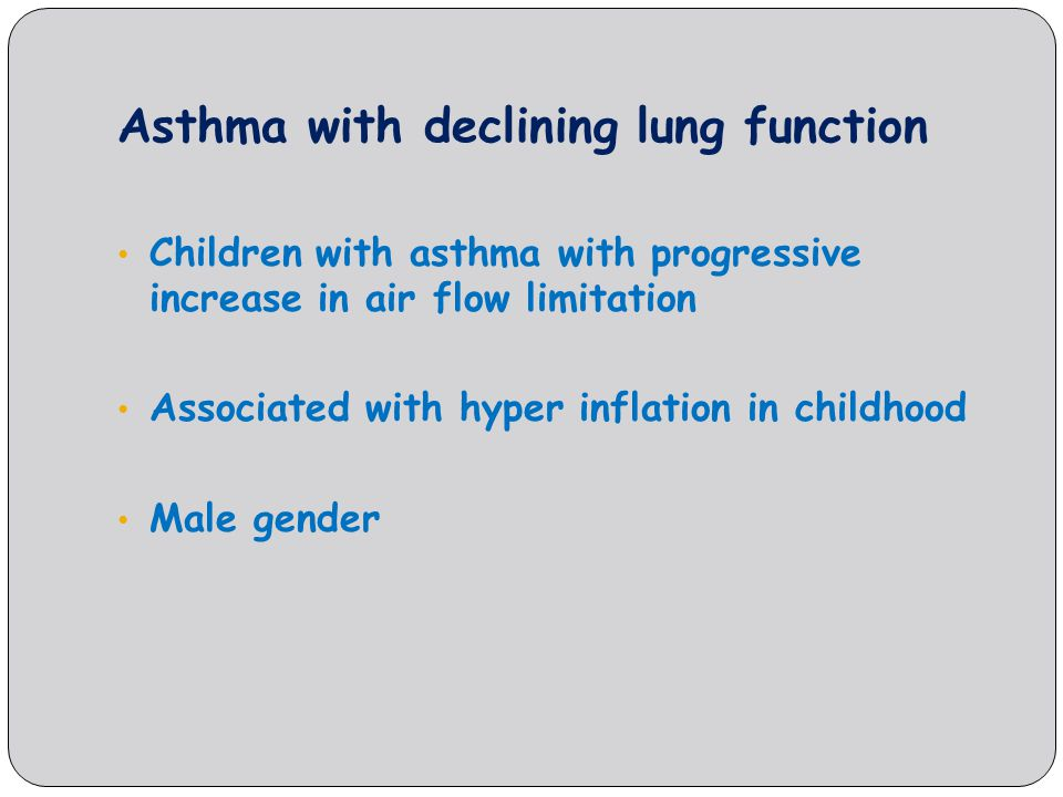 Asthma with declining lung function