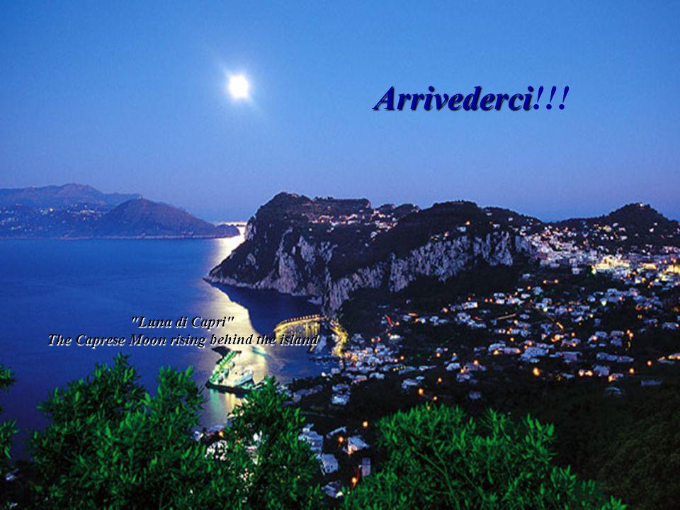 Luna di Capri The Caprese Moon rising behind the island