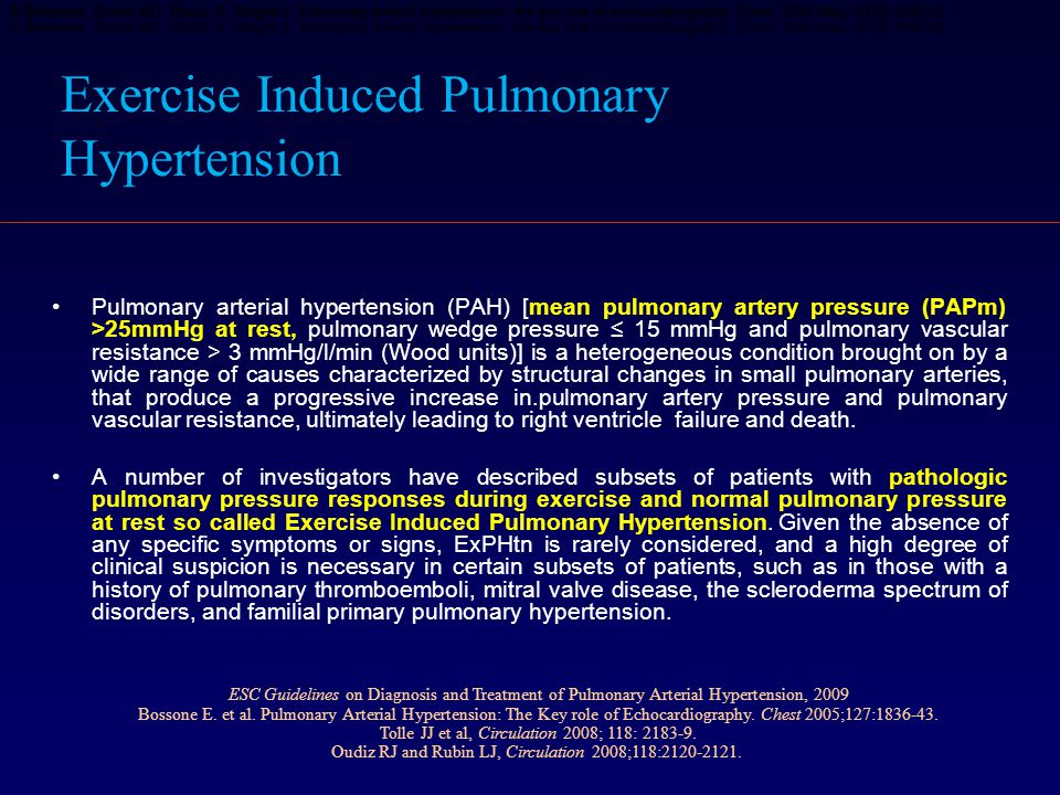 Exercise Induced Pulmonary Hypertension