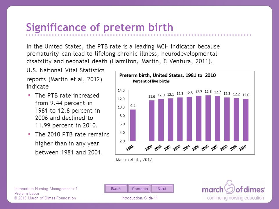 Significance of preterm birth