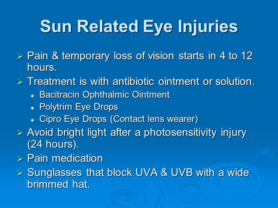 Sun Related Eye Injuries