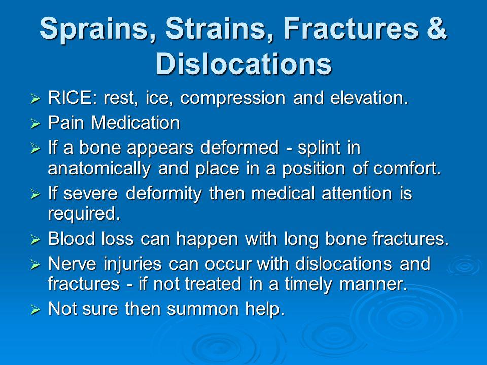 Sprains, Strains, Fractures & Dislocations
