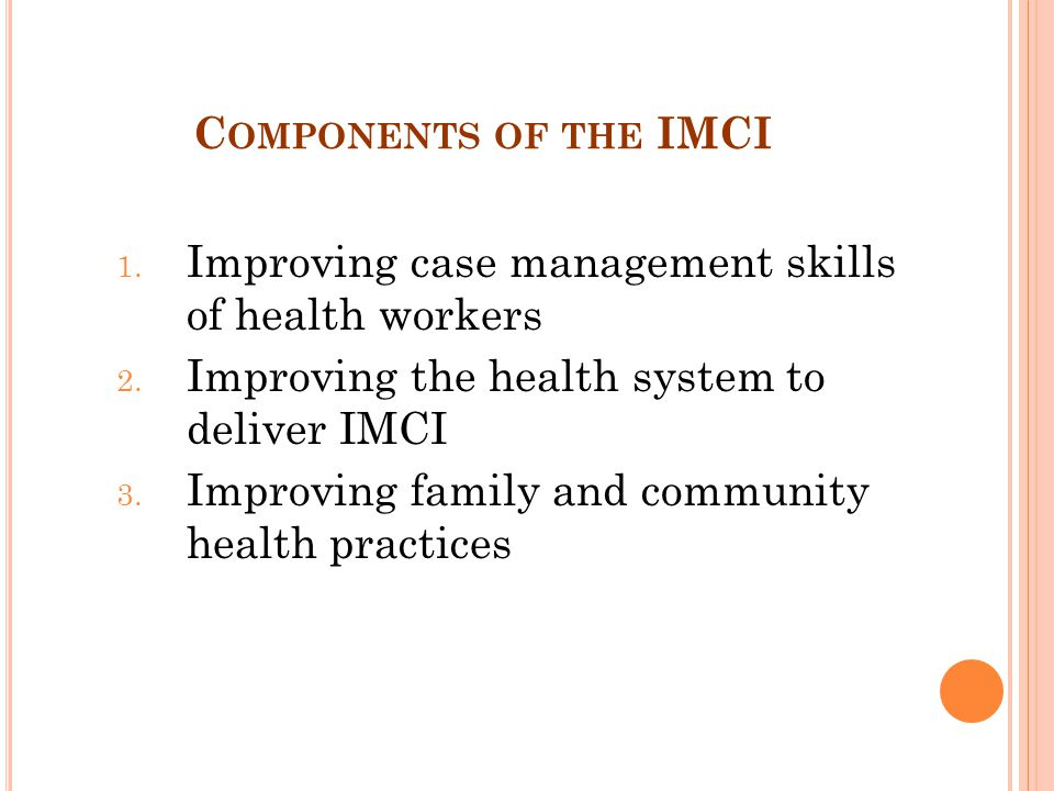 Improving case management skills of health workers