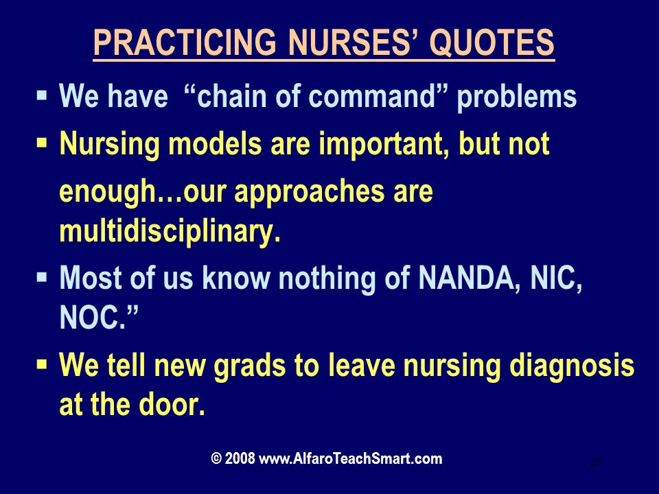 PRACTICING NURSES' QUOTES