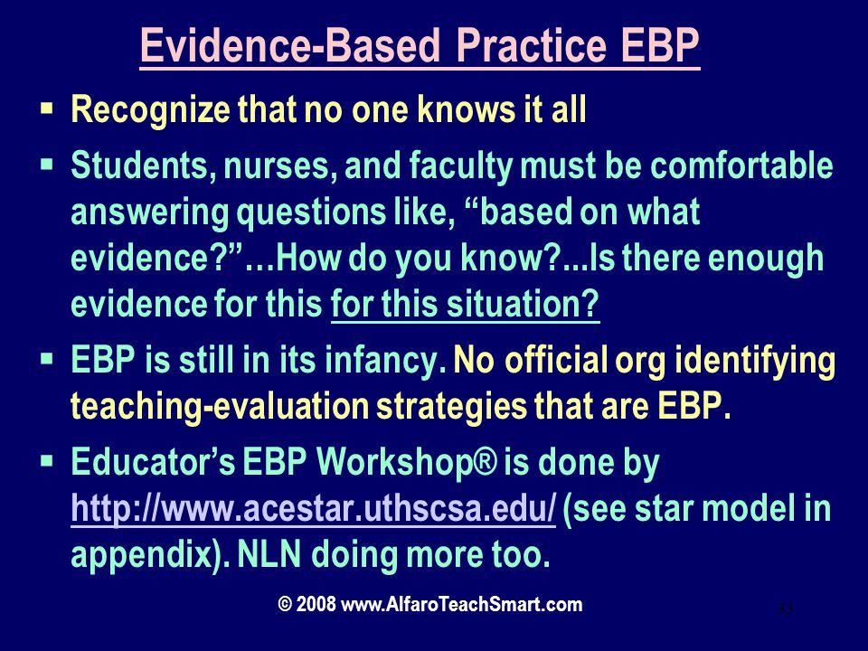 Evidence-Based Practice EBP