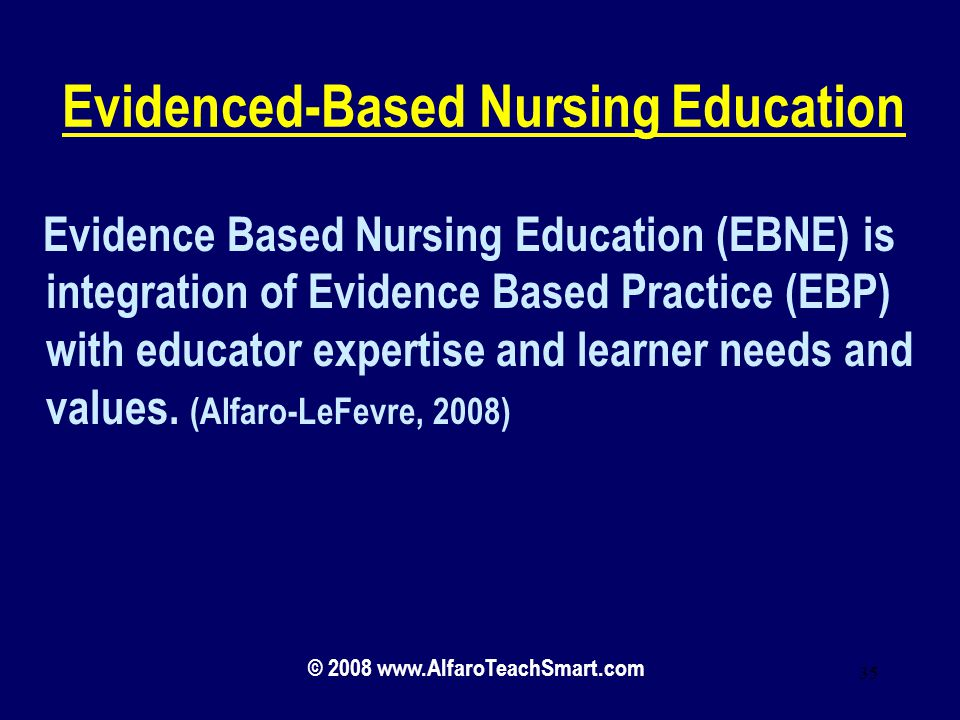 Evidenced-Based Nursing Education