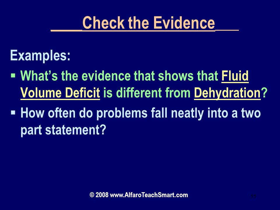 ____Check the Evidence___