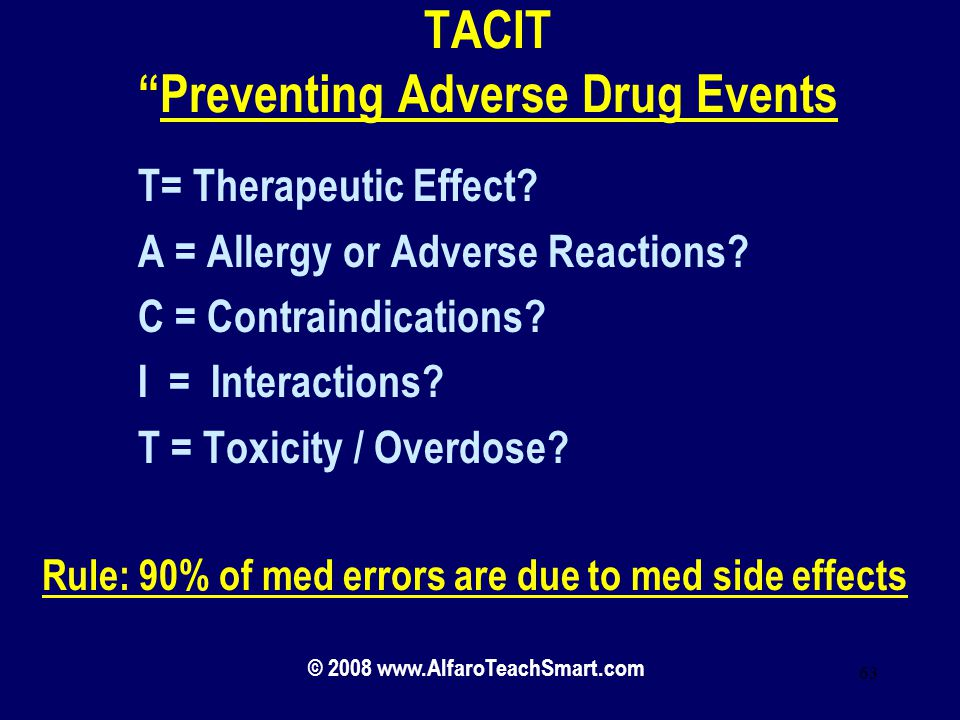 TACIT Preventing Adverse Drug Events