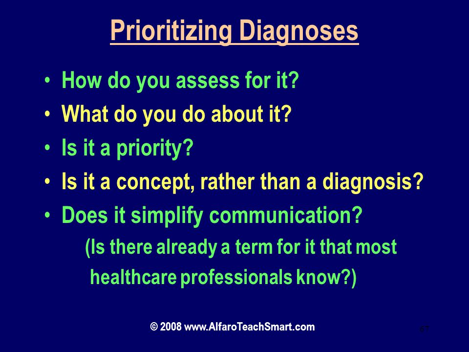 Prioritizing Diagnoses