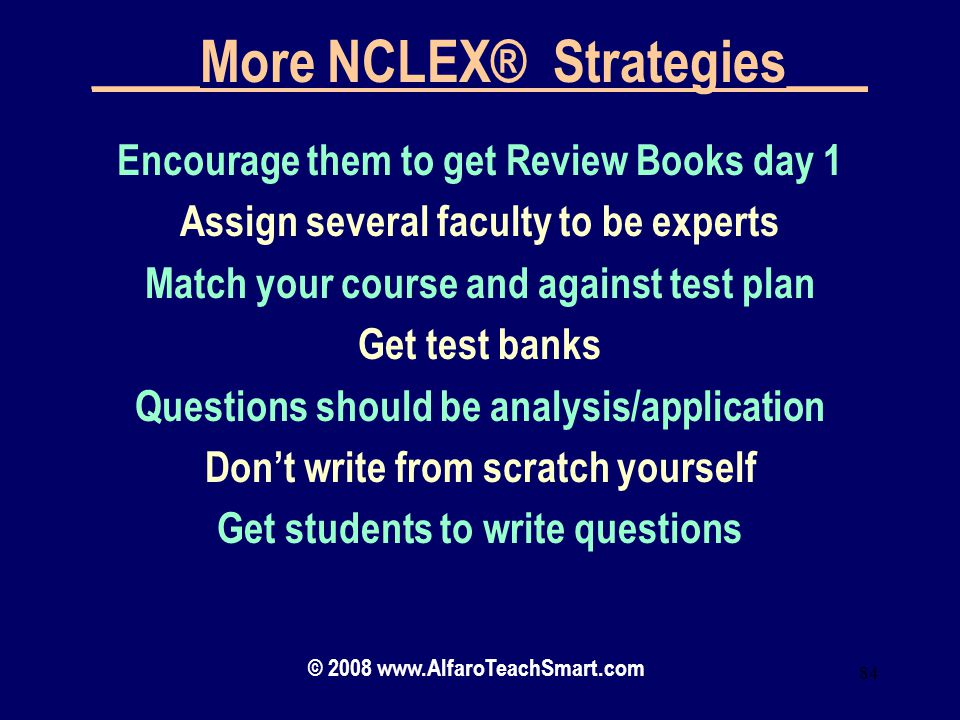 ____More NCLEX® Strategies___