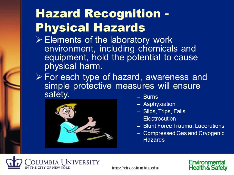 Hazard Recognition -Physical Hazards