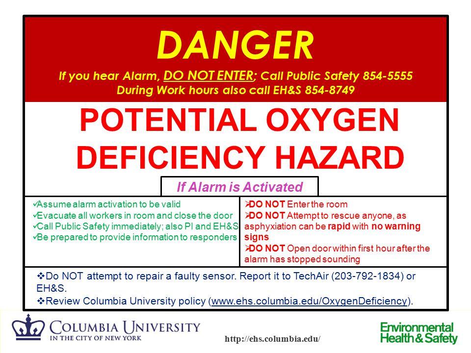 POTENTIAL OXYGEN DEFICIENCY HAZARD