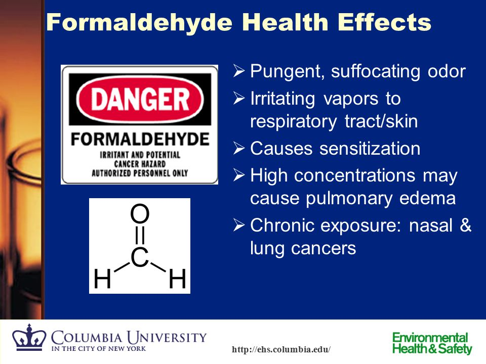 Formaldehyde Health Effects