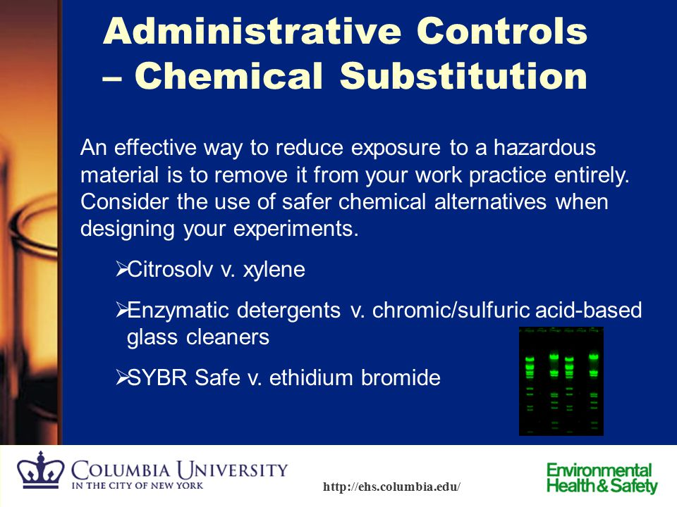 Administrative Controls – Chemical Substitution