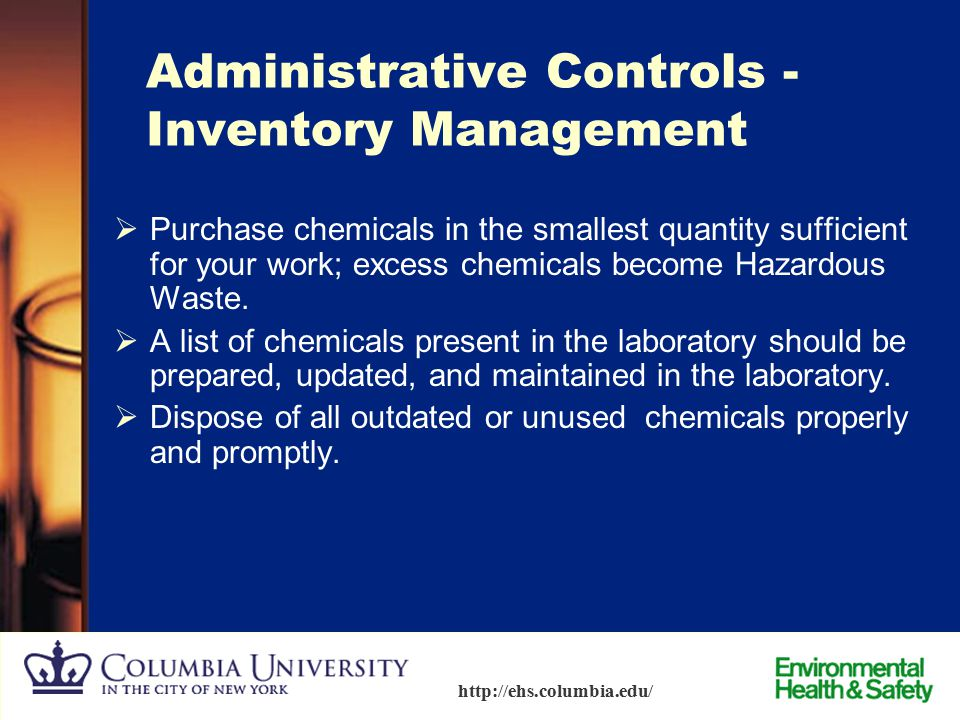 Administrative Controls - Inventory Management