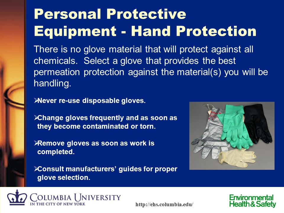 Personal Protective Equipment - Hand Protection