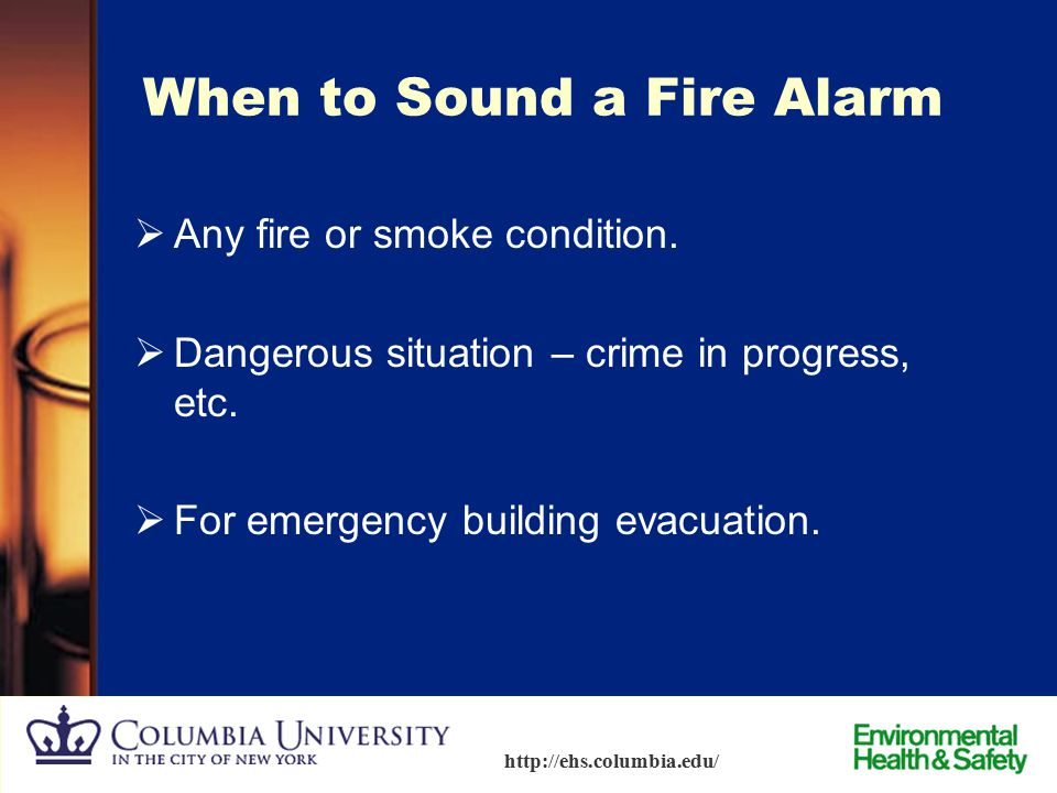 When to Sound a Fire Alarm