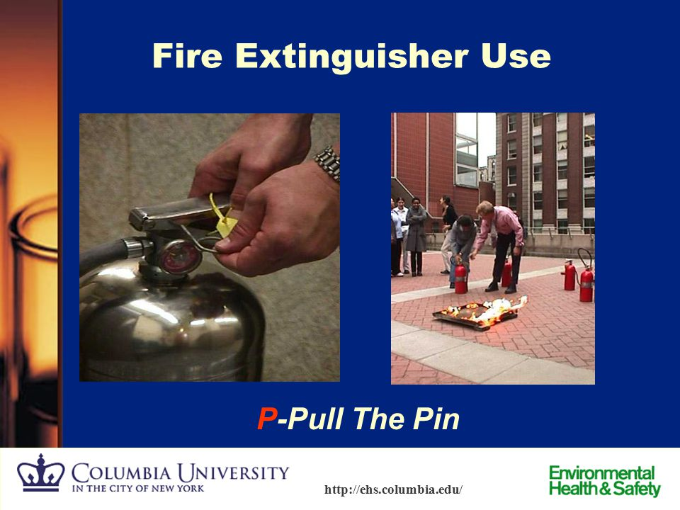 Fire Extinguisher Use P-Pull The Pin