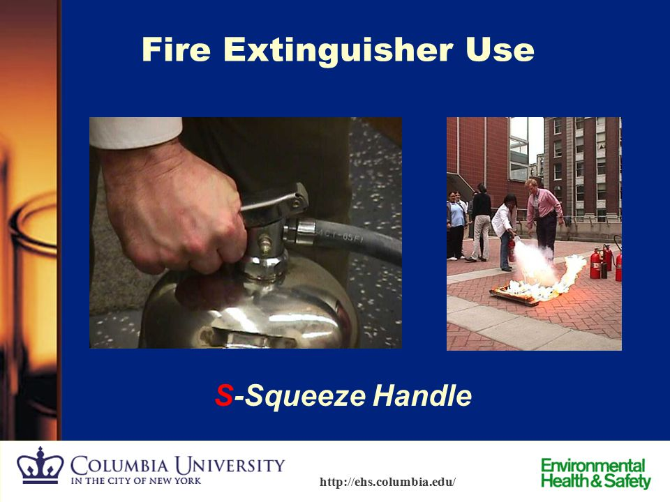Fire Extinguisher Use S-Squeeze Handle