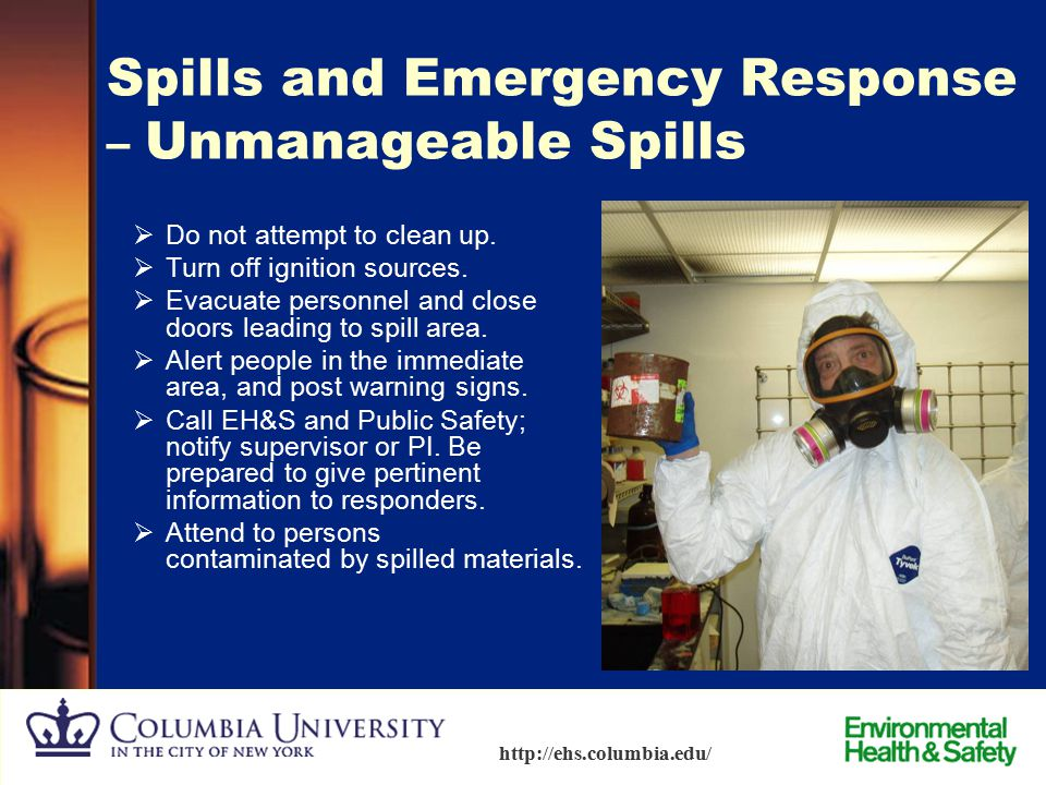 Spills and Emergency Response – Unmanageable Spills