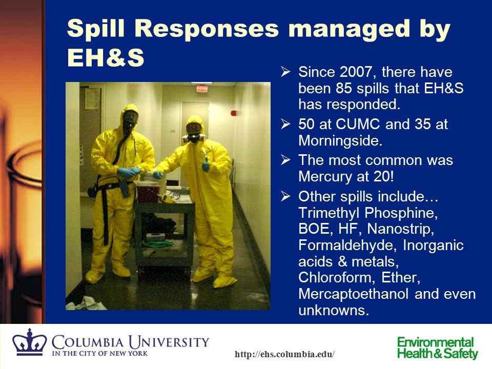 Spill Responses managed by EH&S