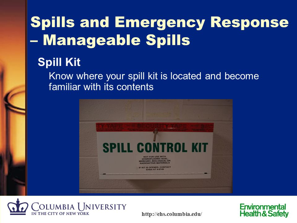Spills and Emergency Response – Manageable Spills
