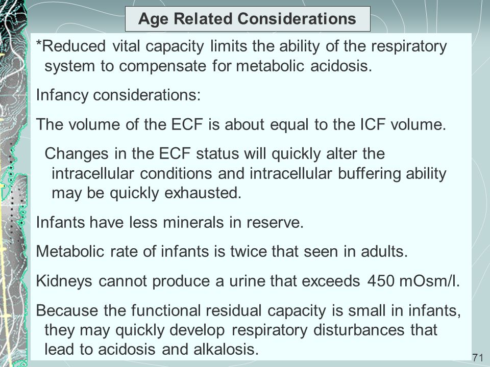 Age Related Considerations