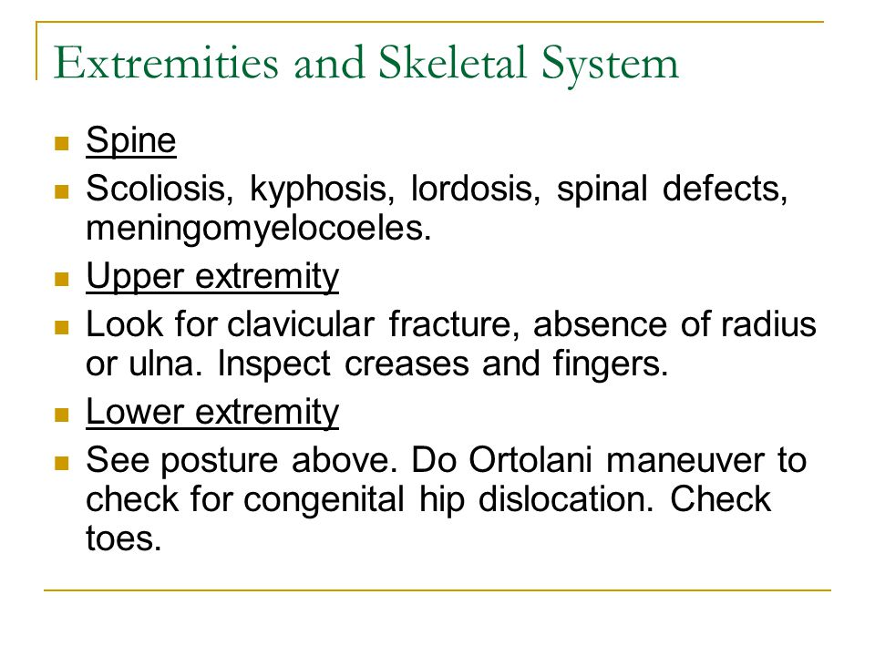 Extremities and Skeletal System