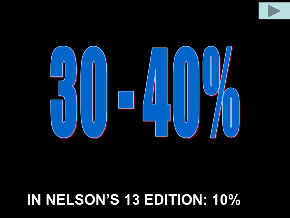 30 - 40% IN NELSON'S 13 EDITION: 10%