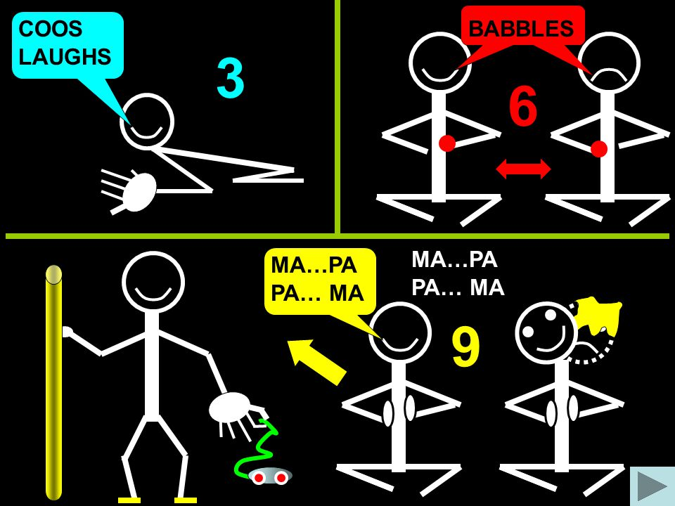 COOS BABBLES LAUGHS 3 6 MA…PA MA…PA PA… MA PA… MA 9