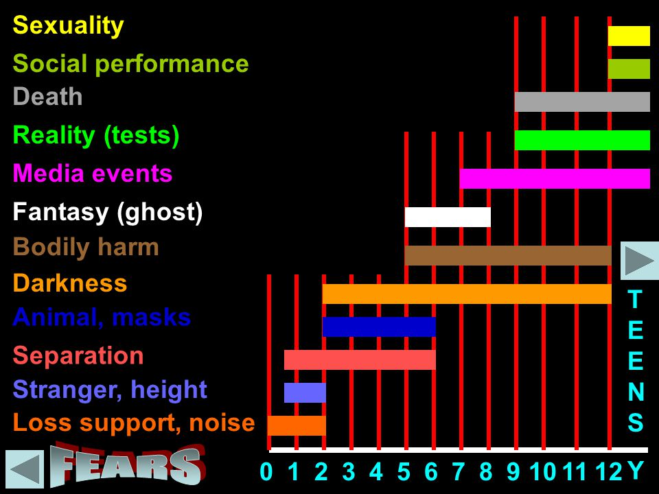 FEARS Sexuality Social performance Death Reality (tests) Media events