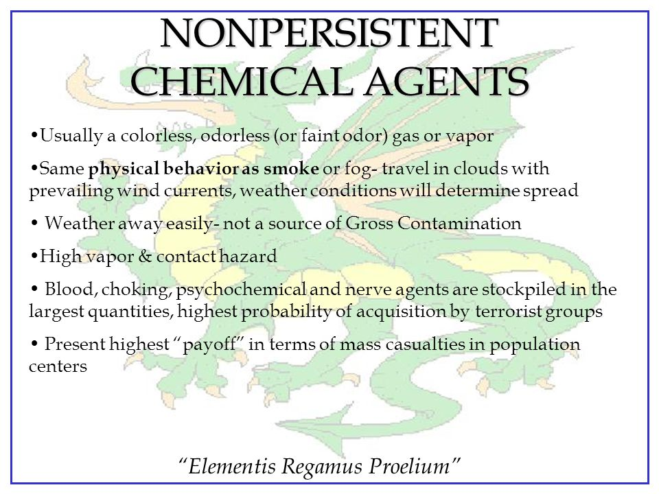 NONPERSISTENT CHEMICAL AGENTS