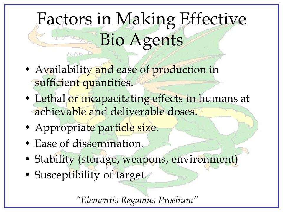 Factors in Making Effective Bio Agents
