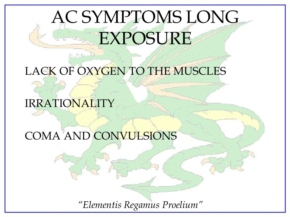 AC SYMPTOMS LONG EXPOSURE