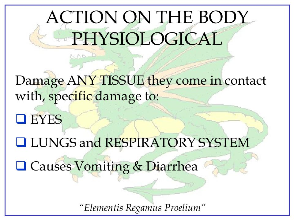 ACTION ON THE BODY PHYSIOLOGICAL