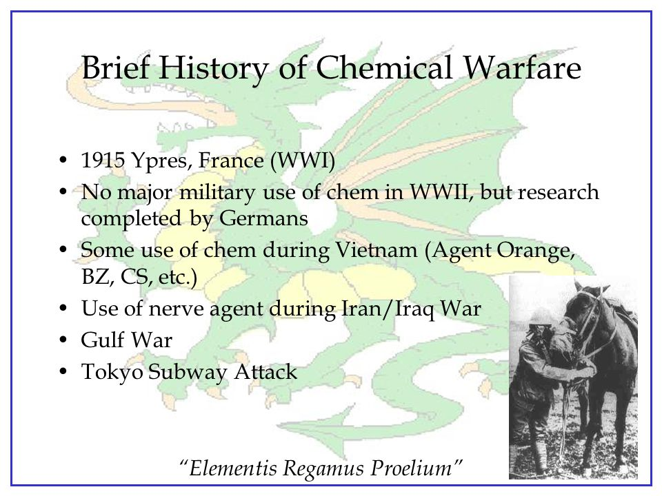 Brief History of Chemical Warfare