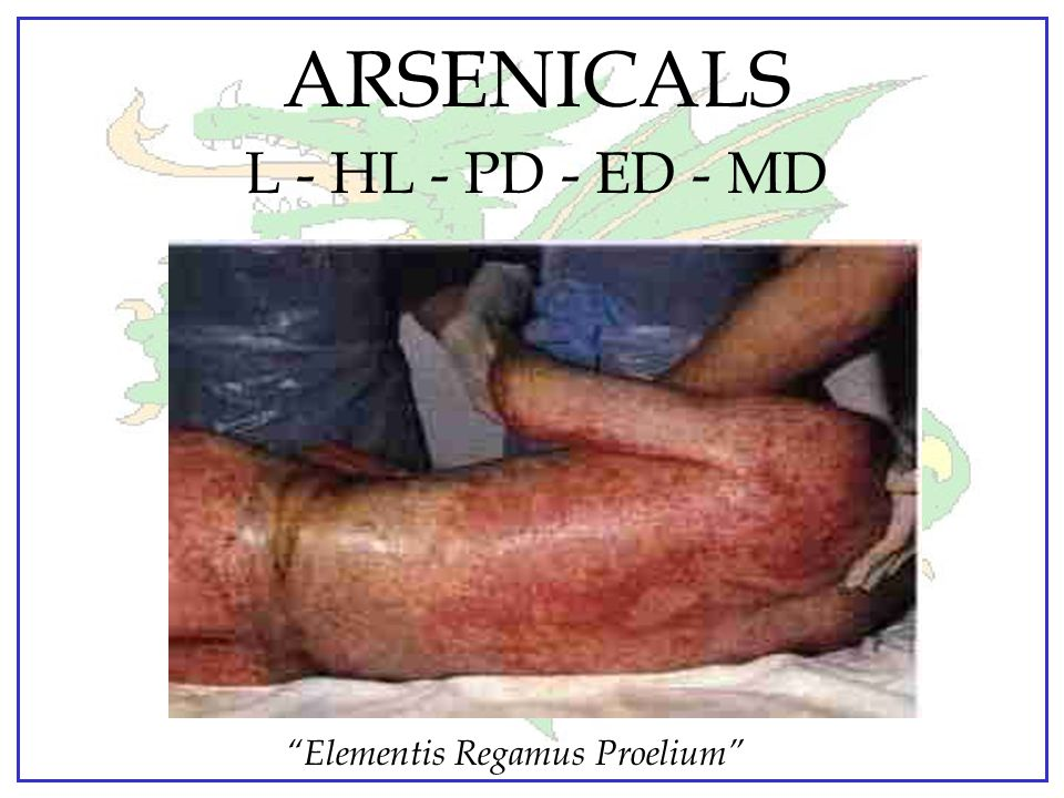 ARSENICALS L - HL - PD - ED - MD