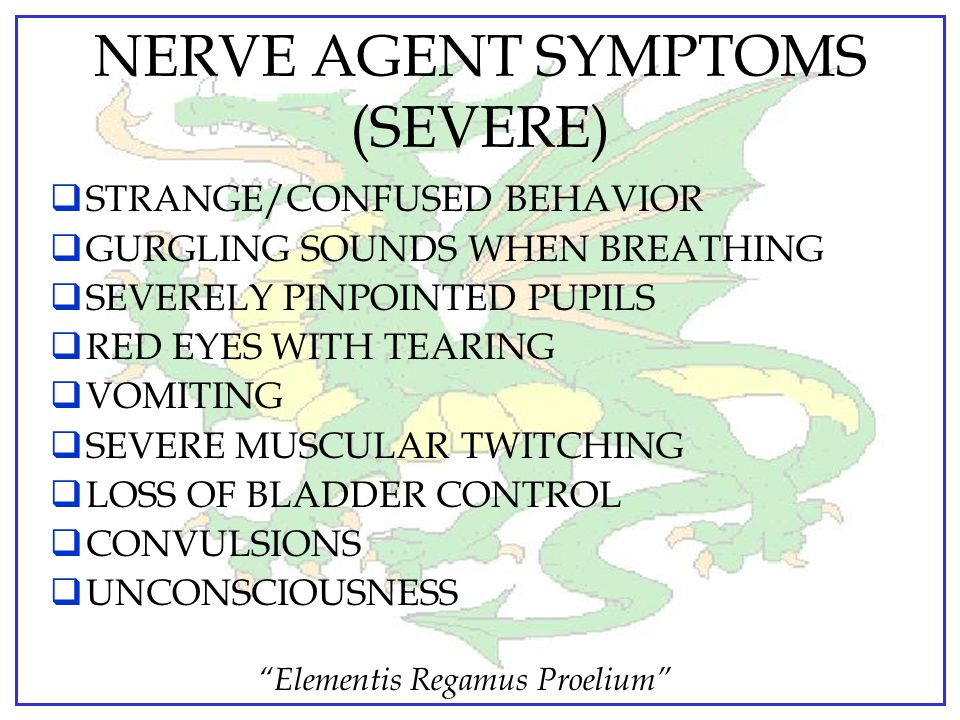 NERVE AGENT SYMPTOMS (SEVERE)