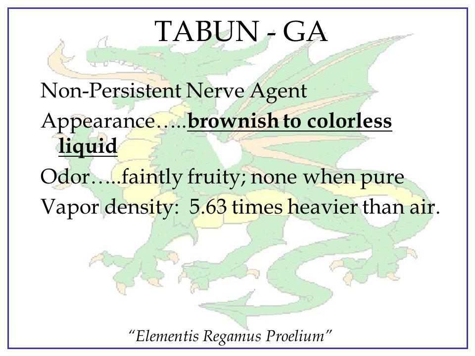 TABUN - GA Non-Persistent Nerve Agent