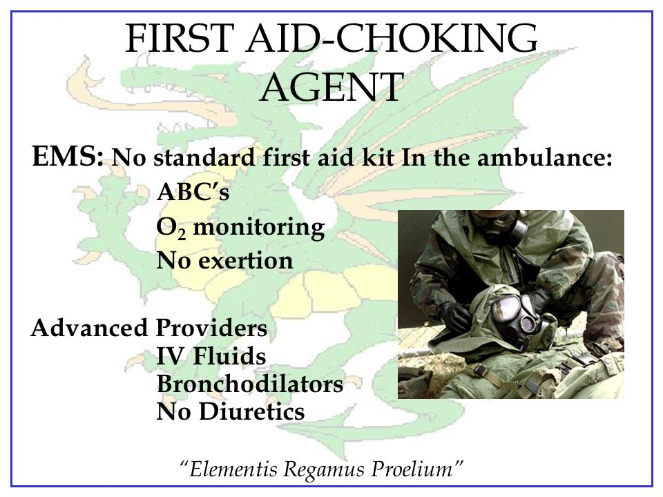 FIRST AID-CHOKING AGENT