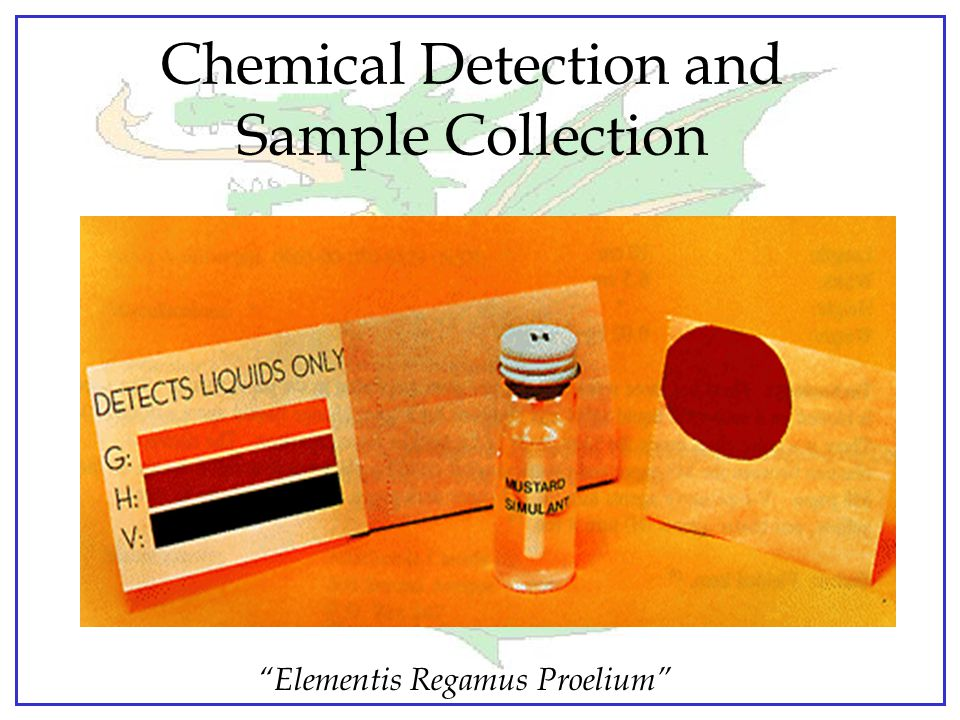 Chemical Detection and Sample Collection