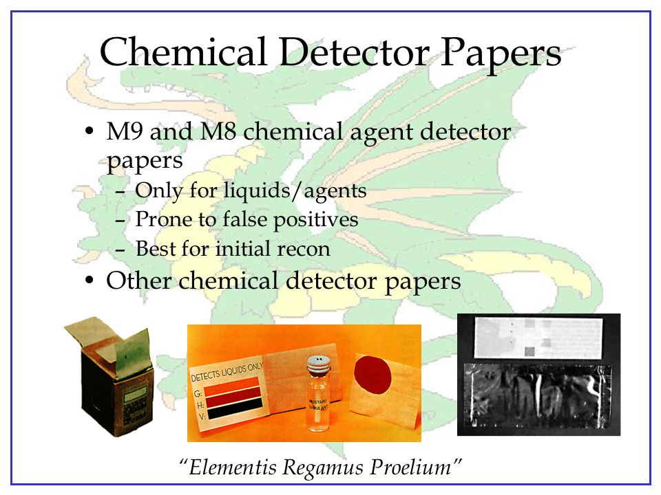 Chemical Detector Papers