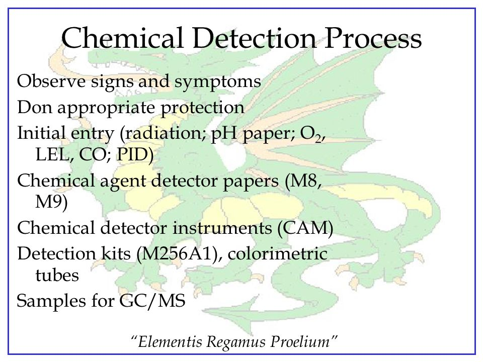 Chemical Detection Process