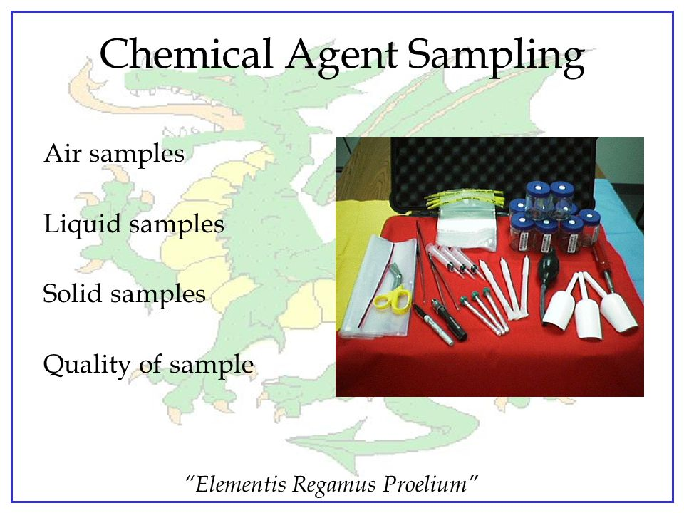 Chemical Agent Sampling